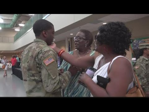 Download South Carolina soldiers deploying overseas say goodbye to families
