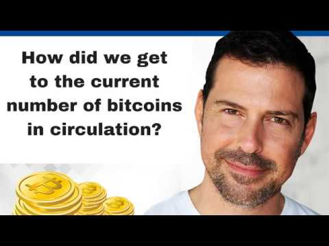 How did we get to the current number of bitcoins in circulation?