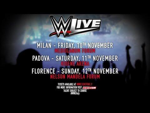 WWE ritorna in Italia a novembre!