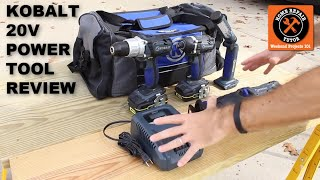 Kobalt 20V Power Tool Review -- by Home Repair Tutor