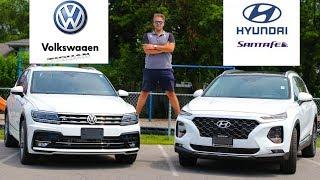 2019 Hyundai Santa Fe Ultimate VS 2019 VW Tiguan Highland R Package | Family Car Battle
