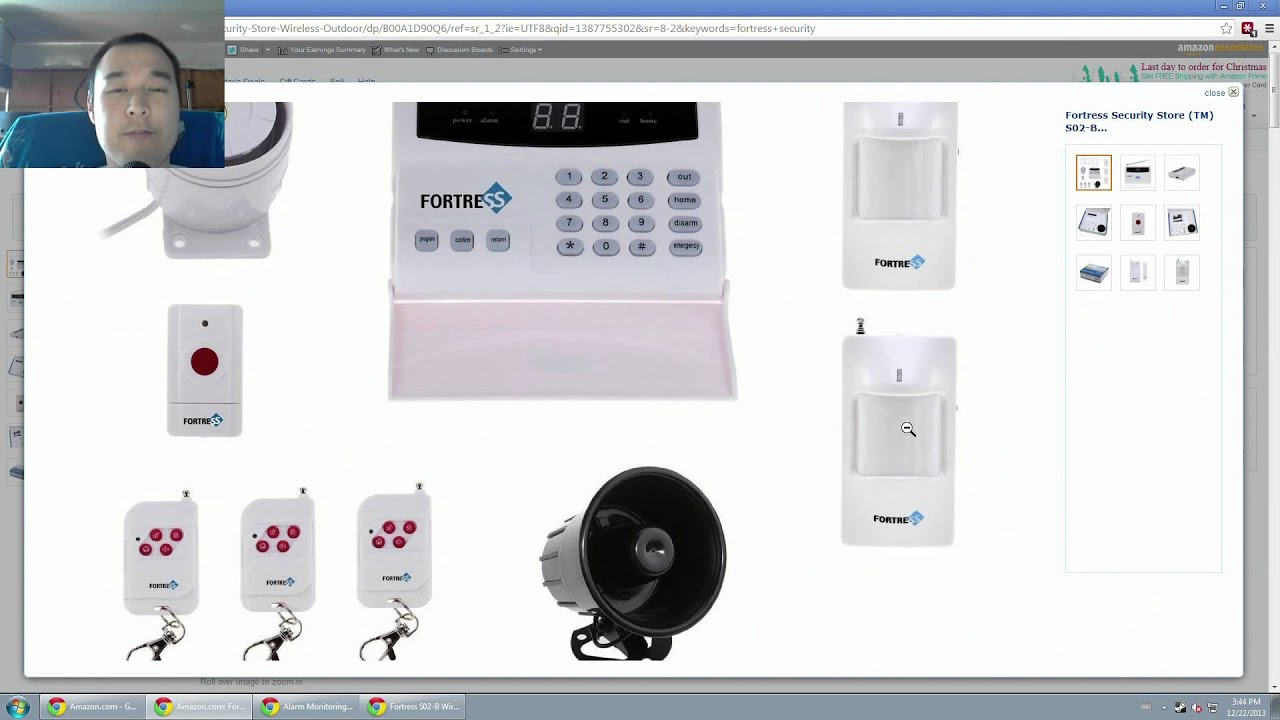 Fortress Security Store S02 B Wireless Home Security Alarm System Kit  Review   YouTube