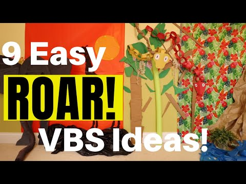 9 Easy VBS Decorations for Roar! VBS 2019 | FAST, AFFORDABLE, & EASY DIYS