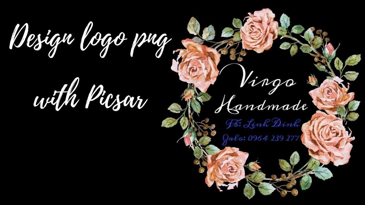 Design Logo | Thiết Kế Logo Thương Hiệu Với Picsart | Cách Làm Logo Bằng Điện Thoại | Virgo handmade