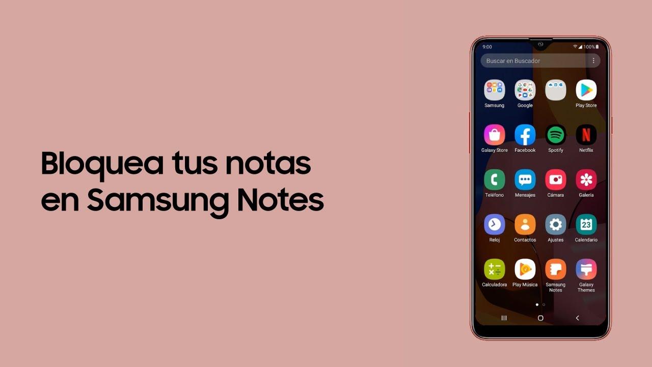 Samsung   Tutoriales   Bloquea tus notas en Samsung Notes