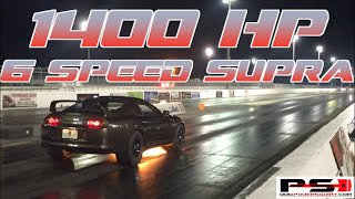 1400HP 6 Speed Supra rowing gears into the 8's!