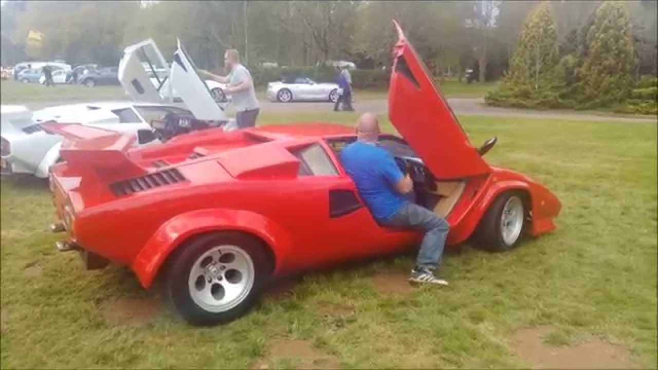 Stoneleigh Kit Car show 2015 Lamborghini stand - YouTube