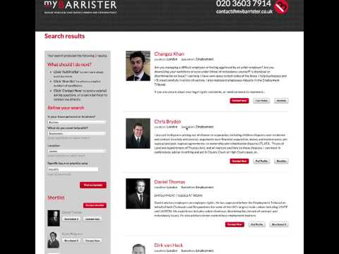 myBarrister  - Direct Access to Barristers - How it works (expand to full screen)