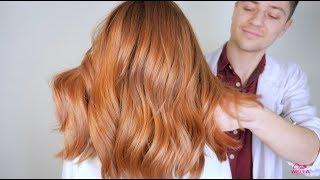 сочный рыжий цвет волос