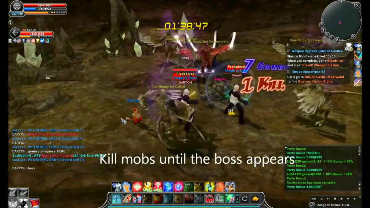 Cabal online illusion castle underworld guide gl youtube.