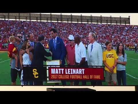 trojancandy.com:  Matt Leinart is Honored for Being Elected to the College Football Hall of Fame
