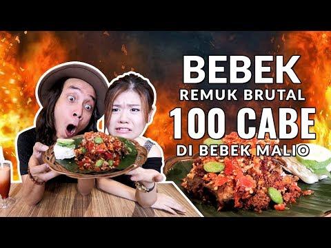 BRUTAL!! BEBEK Goreng REMUK 100 Cabe ft. Elisabeth Wang di BEBEK MALIO