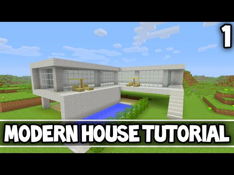 Minecraft tutorial ultra modern house doovi for Modern house tutorial xbox