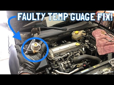Saab 9-3 2.0T Thermostat and Temperature Sensor Replacement