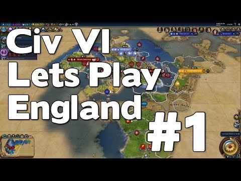 Let's Play Civ 6 TSL England (Gathering Storm True Start Location Civilization VI Gameplay) #1