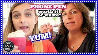 FAVORITE AFTER SCHOOL TREAT & DRAWING ON OUR iPHONES - WORTH IT or WASTE?