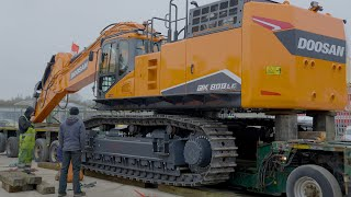 Moving New Doosan DX800 Excavator From Dealers Yard