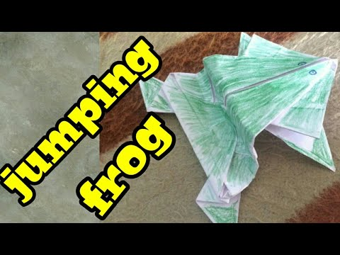 How to make jumping paper frog funny craft for kids paper frog simply mix