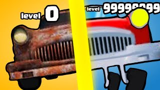 IS THIS THE HIGHEST LEVEL STRONGEST CAR BUILD EVOLUTION? (9999+ WRECK LEVEL) l Car Restoration 3D