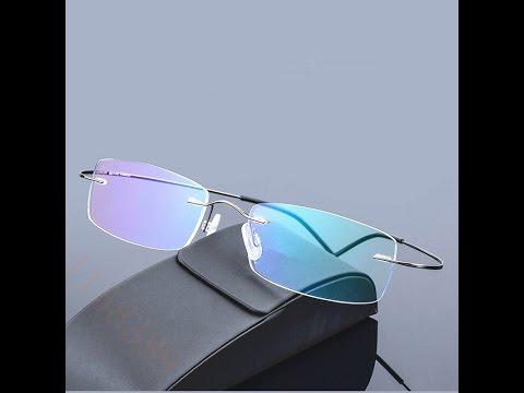 Супхерлегкие очки без оправы с Алиэкспресс. SILHOUETTE.