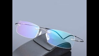 суперлегкие очки без оправы с Алиэкспресс. SILHOUETTE