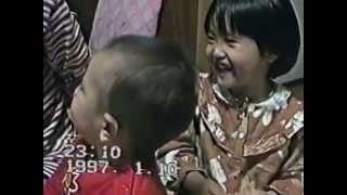 3歳ながら中村玉緒の笑い声にそっくりの姉と痛い弟.