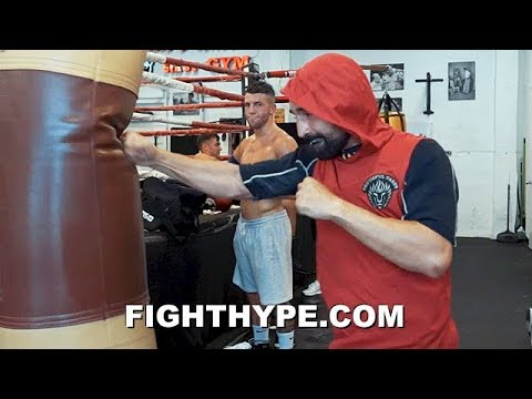 "PAULIE MALIGNAGGI BARE-KNUCKLE TRAINING TO CUT UP AND SMASH ARTEM ""PUNCHING BAG"" LOBOV"