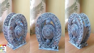 Newspaper craft idea | Newspaper vase | best out of waste