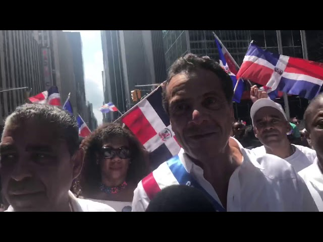 Gobernador Cuomo y el Congresista Espaillat acaparan la atención del Desfile Nacional Dom en NY