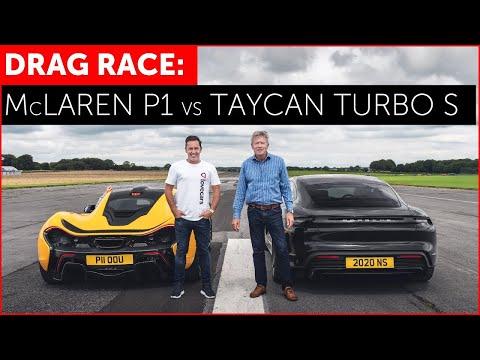 DRAG RACE - McLaren P1 vs Porsche Taycan Turbo S - REAL WORLD!