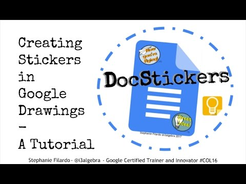 Docstickers creating stickers in google drawings tutorial