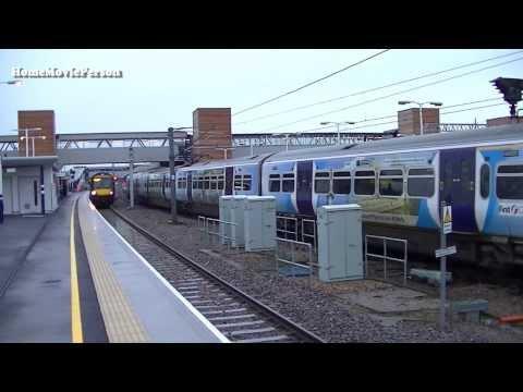 East Coast Mainline, Huntingdon And Peterborough Stations 18.01.2014