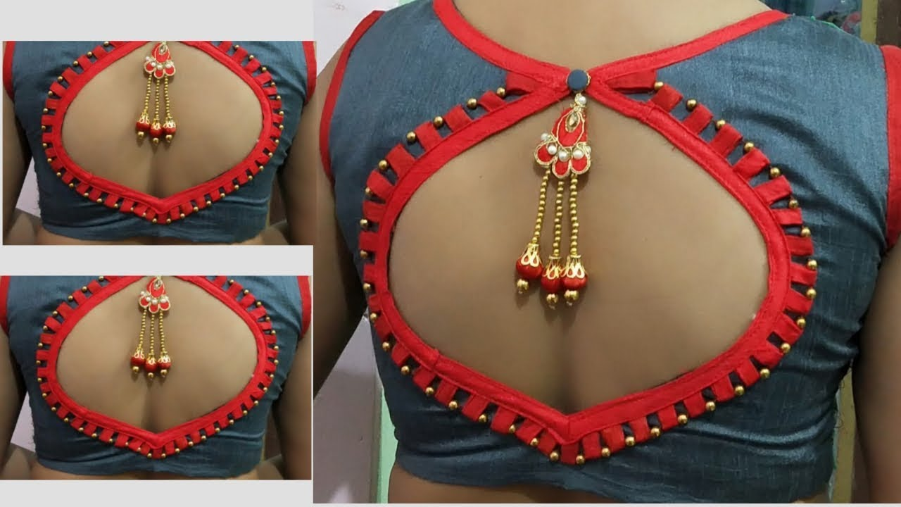 Beautiful Blouse Back Neck Design cutting and stiching!!/ Blouse Design../ Paithani blouse design
