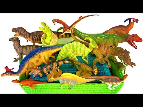 Dinosaurs for kids - learn Dinosaur names - learn Dinosaur facts 🌋 volcano fire