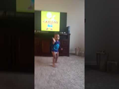 Ryan dancing the caillou remix song.