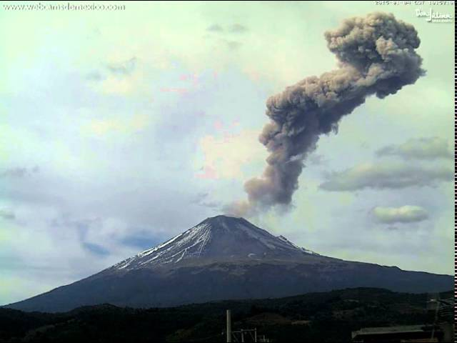 Popocatepetl and Colima Volcanoes in Mexico Erupting | Rice ...