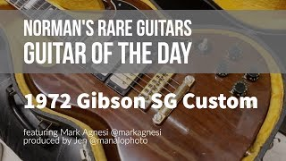 Norman's Rare Guitars - Guitar of the Day: 1972 Gibson SG Custom