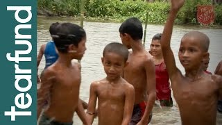 Saving lives by swimming lessons in Bangladesh