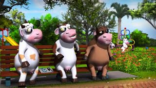 Mejor gracioso vaca de dibujos animados para bebés y niños. Pran dulce de leche de animación de anuncios! Vaca de animación de anuncios!!