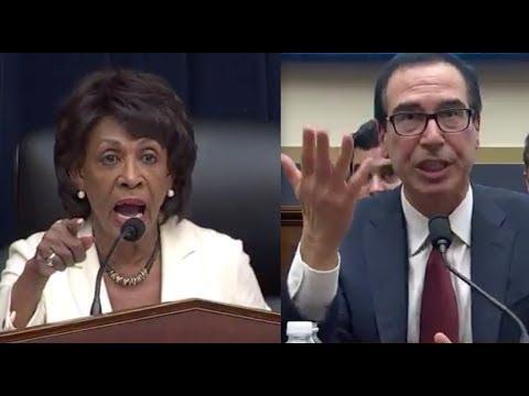 Maxine Waters humiliates Trump's Treasury Secretary in brutal scolding