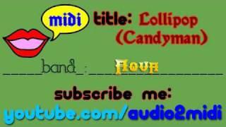Aqua - Lollipop (candyman) [MIDI - Instrumental]