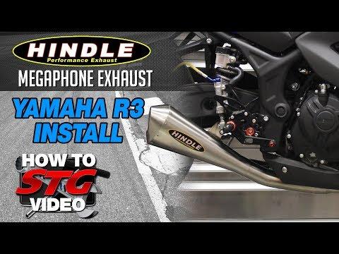 15-17 Yamaha R3 Hindle Megaphone Exhaust Install | Sportbiketrackgear.com