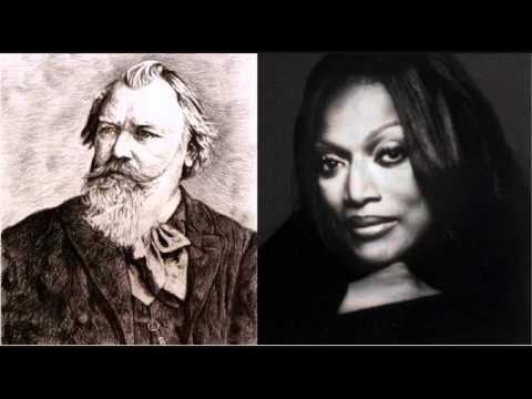 Jessye Norman sings Brahms - Gestillte Sehnsucht, from Two Songs, Op. 91 (1/2)