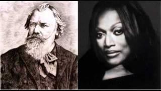 Jessye Norman sings Brahms - Gestillte Sehnsucht, from Two Songs, Op. 91 (1/2)