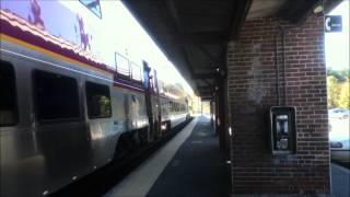 Northeast Regional, Acela Express and MBTA Commuter Rail at Sharon