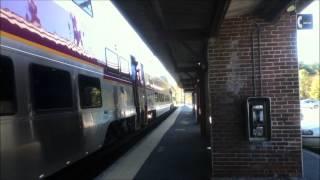 Northeast Regional, Acela Express and MBTA Commuter Rail at Sharon