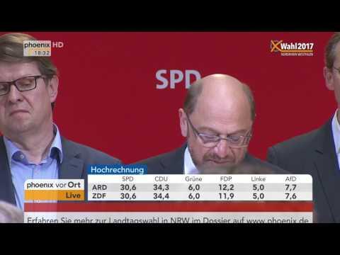 NRW wählt: Statement von Martin Schulz nach Wahlniederlage am 14.05.2017