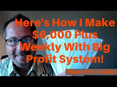 My Big Profit System Review | Here's How To Average $6,000 Per Week With Big Profit System (BPS)