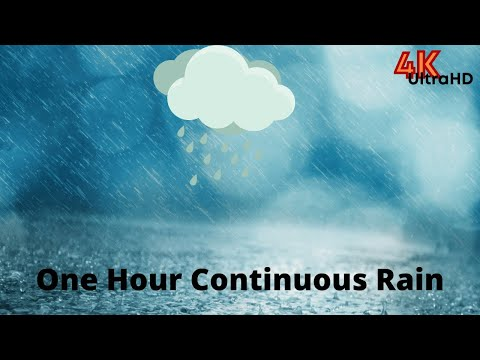 Heavy rain and thunderstorm sounds for sleeping one hour