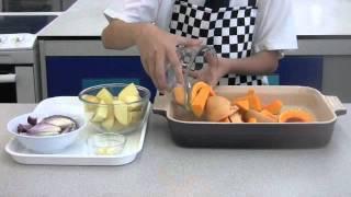 Roast Lamb Cutlets With Butternut Squash